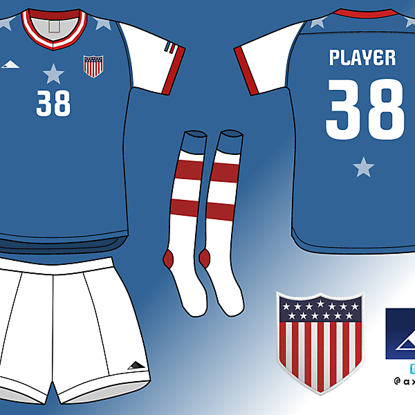 USA soccer team. Home kit
