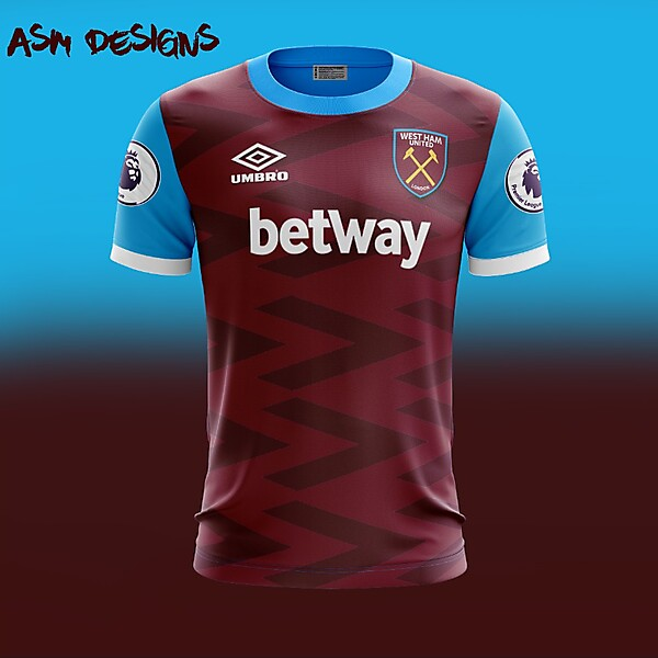West Ham United F.C. 2018 Umbro Home Kit