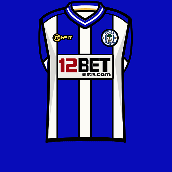 Wigan Ath. 13-14 home kit