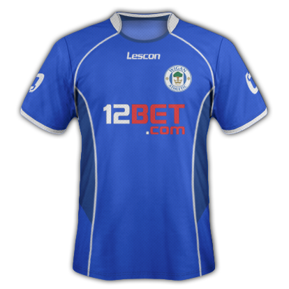Wigan Athletic fantasy kits with Lescon