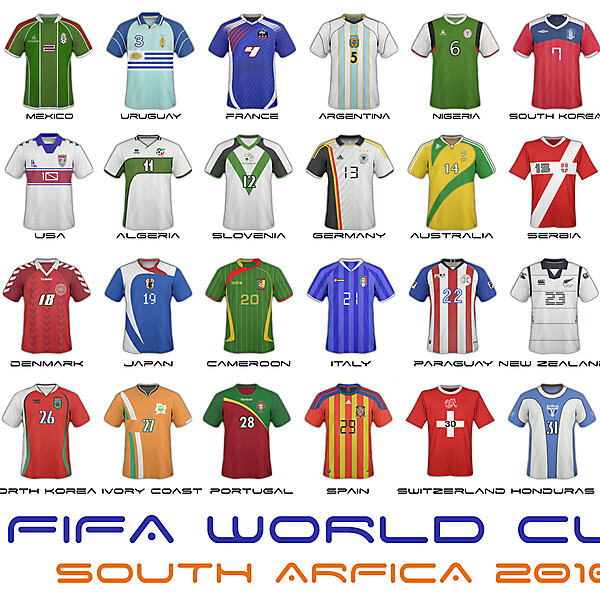 World Cup 2010 - ALL THE TEAMS