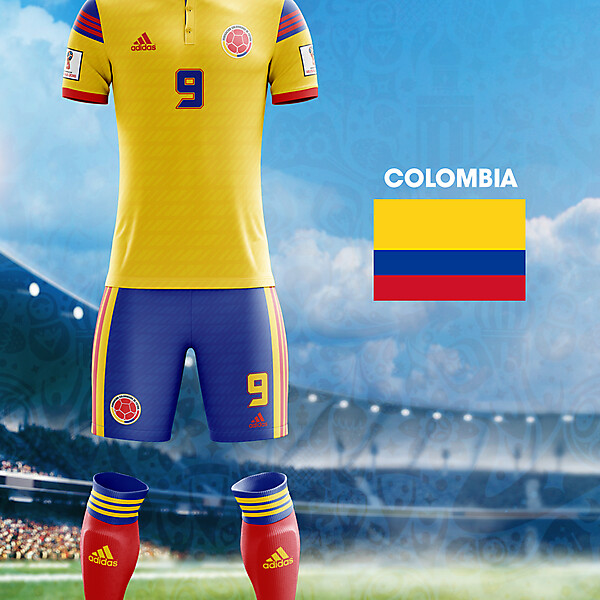 World Cup Flag Kit: COL