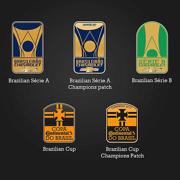 Brazilian tournaments' logos redesign