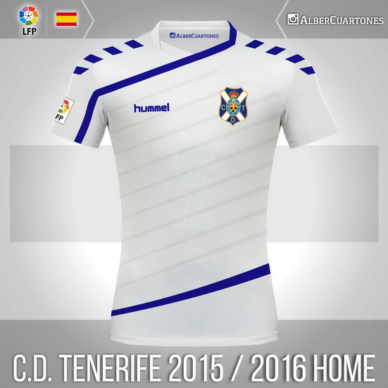 C.D. Tenerife 2015 / 2016 Home Shirt