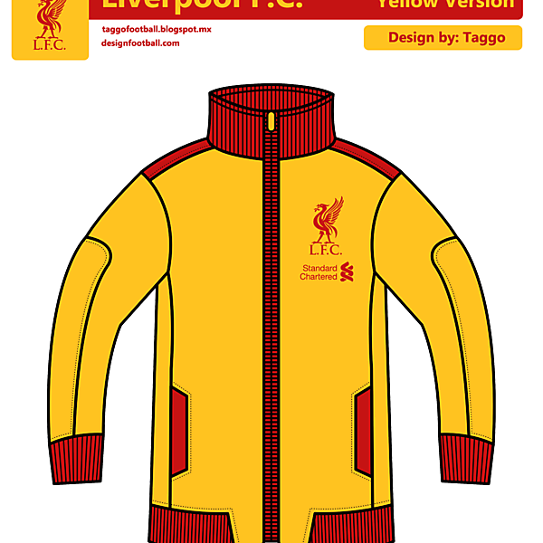 Liverpool FC Yellow Track Jacket