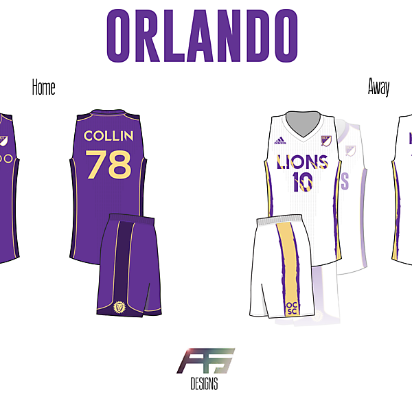 Orlando City SC [If Soccer (Football) Teams Had Basketball Jerseys]