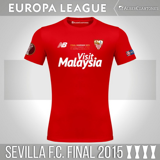 Sevilla F.C. 2015 Europa League Final Shirt
