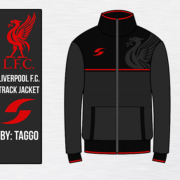 Liverpool Black Track Jacket