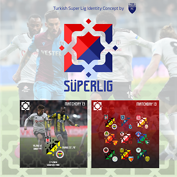 Turkish Super Lig Identity Concept by @thebadgefc