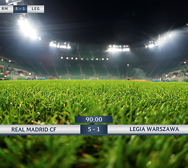 UEFA Champions League Scoreboard Design