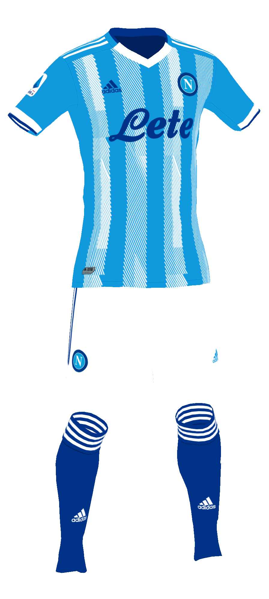 Napoli Home Kit With stripes made with pes master kit creator