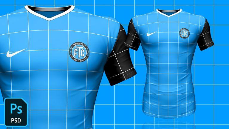 3D Football/Soccer Jersey Template Mock-Up FREE