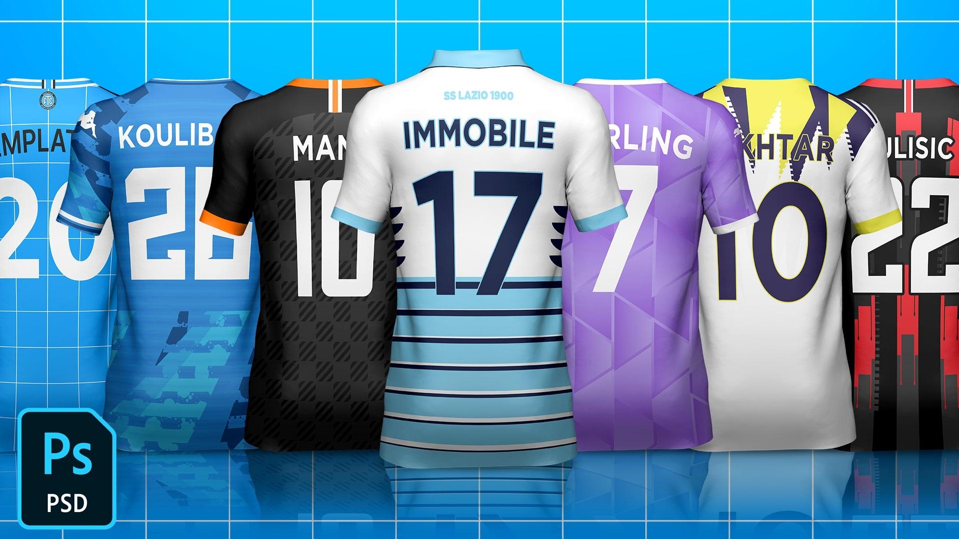 Kit Builder Back Soccer/Football Template Mock-Up