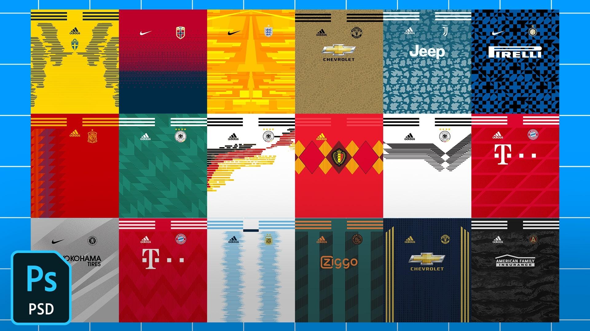Football/Soccer Jersey Patterns Pack