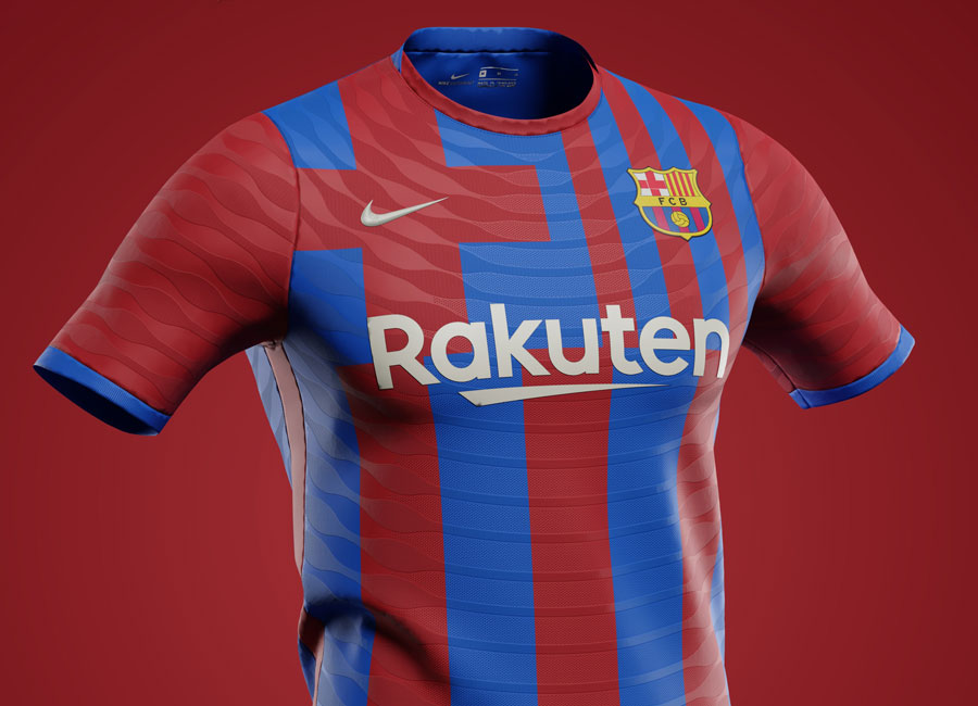 Barcelona 2021-22 Home Shirt Prediction by Corinth