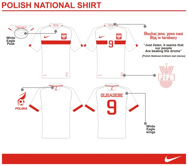 Poland National Shirt by Nike