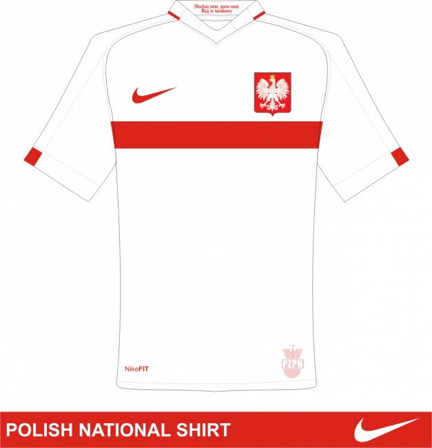 Poland National Shirt by Nike - Front