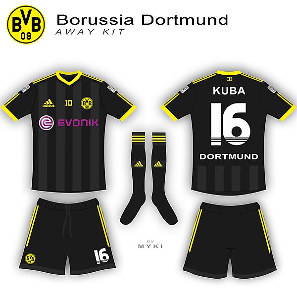 Dortmund Away Kit - Adidas