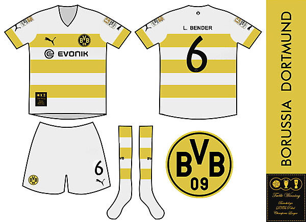Borussia Dortmund Treble Winning Away Kit
