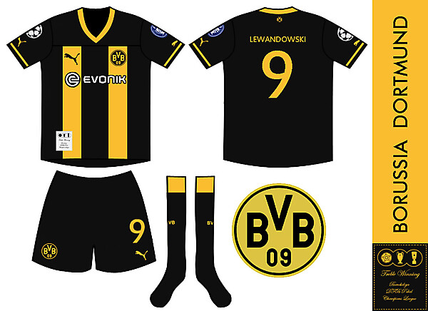 Borussia Dortmund Treble Winning Champions Kit