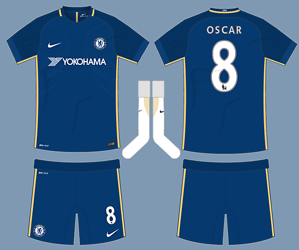 Chelsea 17-18 Nike Home Kit