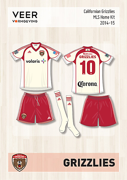 Californian Grizzlies Home kit 2014-15