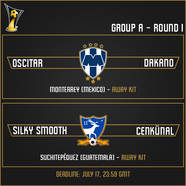 Group A - Round 1 Matches