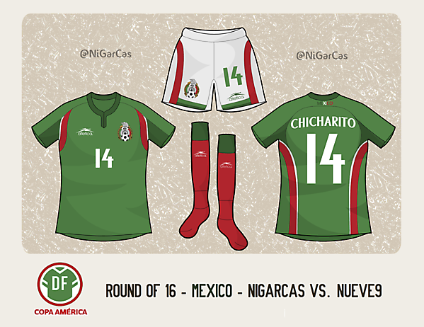 México Home (Atlética) - Copa América Design Football