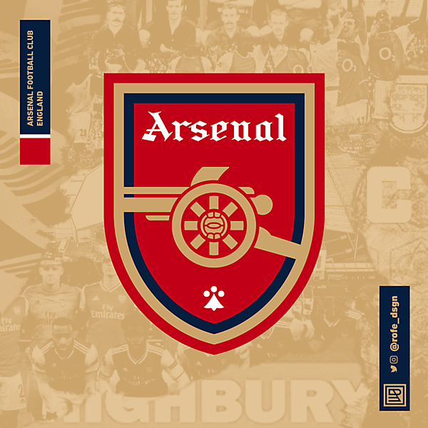 Arsenal Football Club| Rebranding By @rofe_dsgn