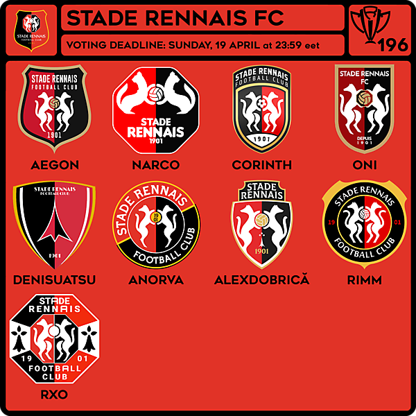 CRCW 196 VOTING - STADE RENNAIS FC