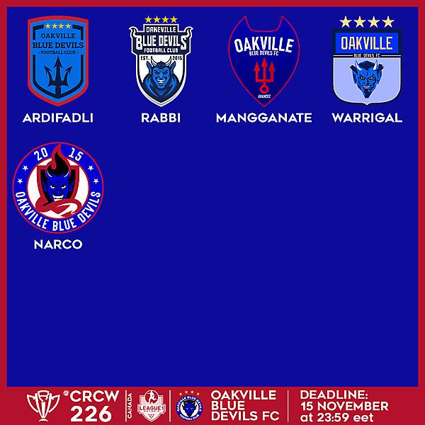 CRCW 226 VOTING - OAKVILLE BLUE DEVILS FC