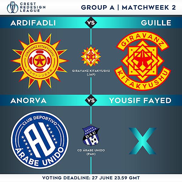 Group A - Matchweek 2 - Voting
