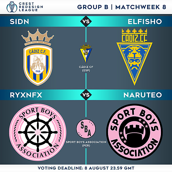 Group B - Matchweek 8 - Voting