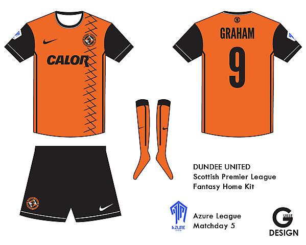 Dundee United Kit - Azure League Match day  5