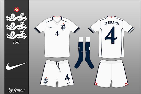England x 150