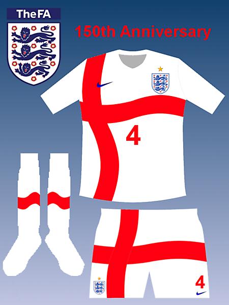 England 150th Anniversary home kit