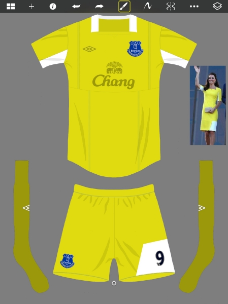 Everton away 2014/15 umbro
