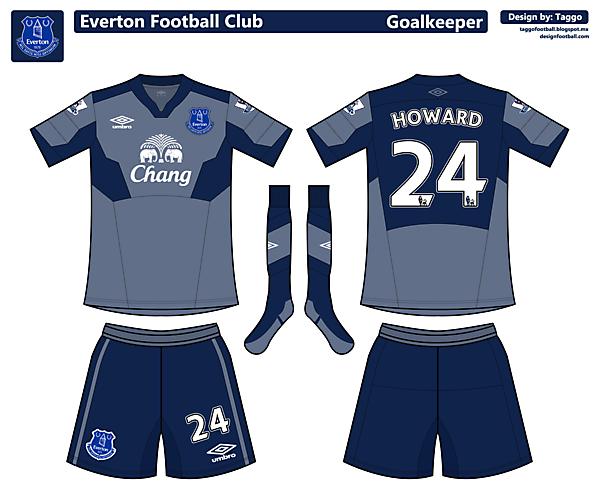 Everton Goalkeeper kit.