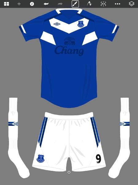 Everton Umbro home 2014/15