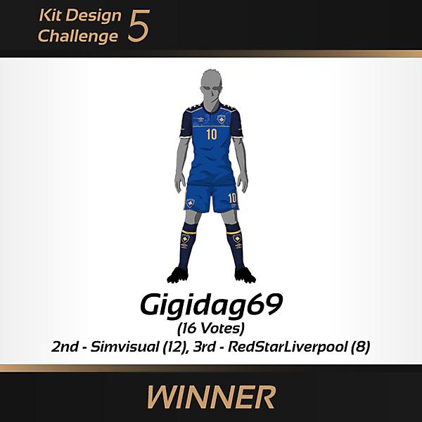 WINNER - Kit Design Challenge 5 - Kosovo Home Kit