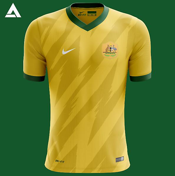 Australia Nike 2021 Home Kit