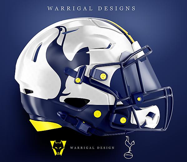 Tottenham Hotspur NFL helmet concept