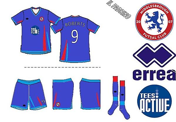 Middlesbrough Futsal Club Errea Home Kit