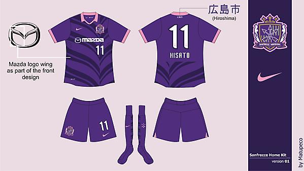Sanfrecce Hiroshima Home version 01