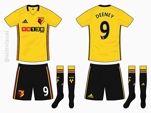 Watford Home Kit - Adidas