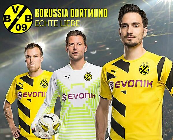 Borussia Dortmund Crest Modled by team