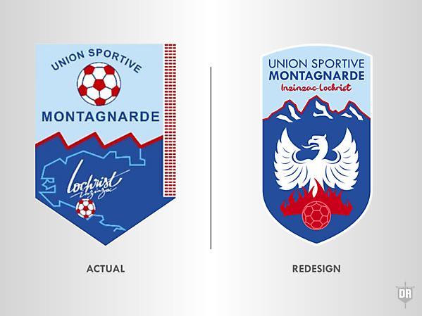 Union Sportive Montagnarde Crest Redesign
