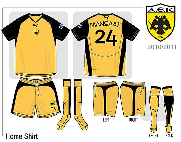 AEK HOME SHIRT 2010/2011