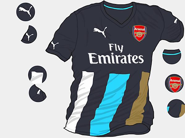 Arsenal 2015-2016 Third Shirt (Based on Leaks)