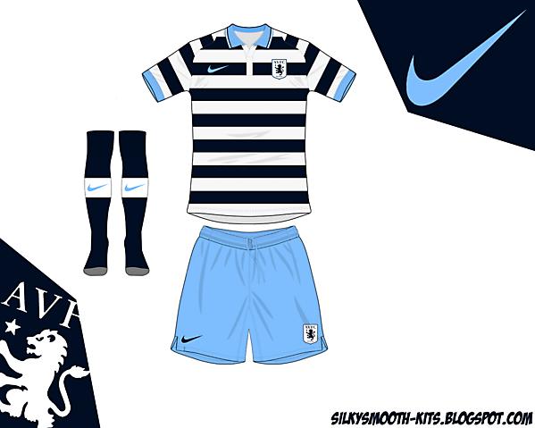 Aston Villa fantasy away Nike - old design remade